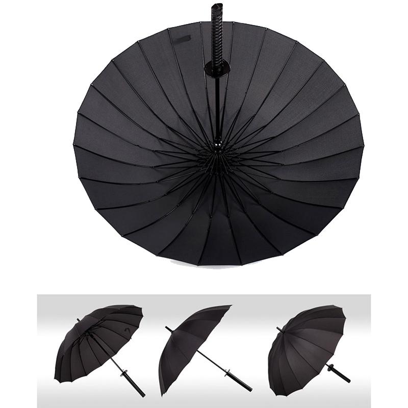 KCASA Creative Long Handle Large Windproof Samurai Umbrella Japanese Ninja-like Sun Rain Straight Umbrella Manual Open