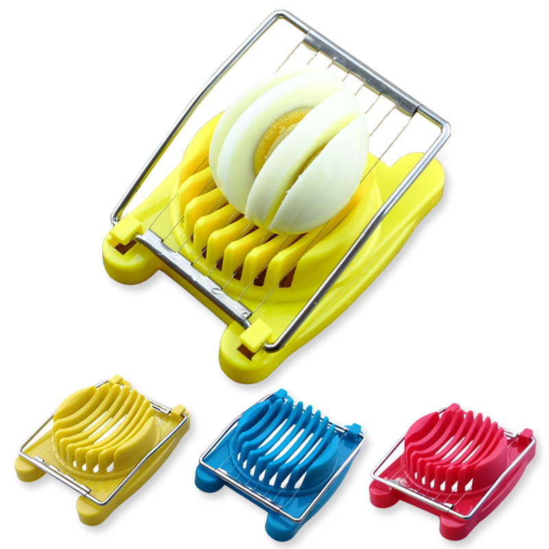 1PC Stainless Steel Cut Egg Slicer Sectioner Cutter Mold Multifunction Eggs Splitter Cutter Kitchen Tools Egg Tool