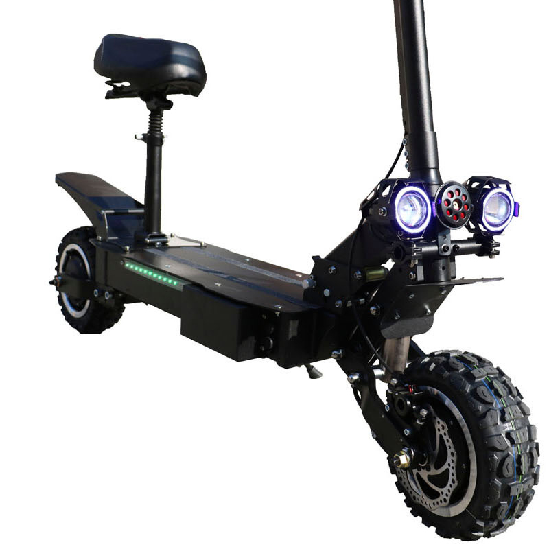 ZAPCOOL T108 Dual Motor 26Ah 60V 3600W Electric Scooter 11 Inch 80km/h Top Speed 70-90KM Mileage Max. Load 250kg Disc Brake Folding Scooter EU Plug