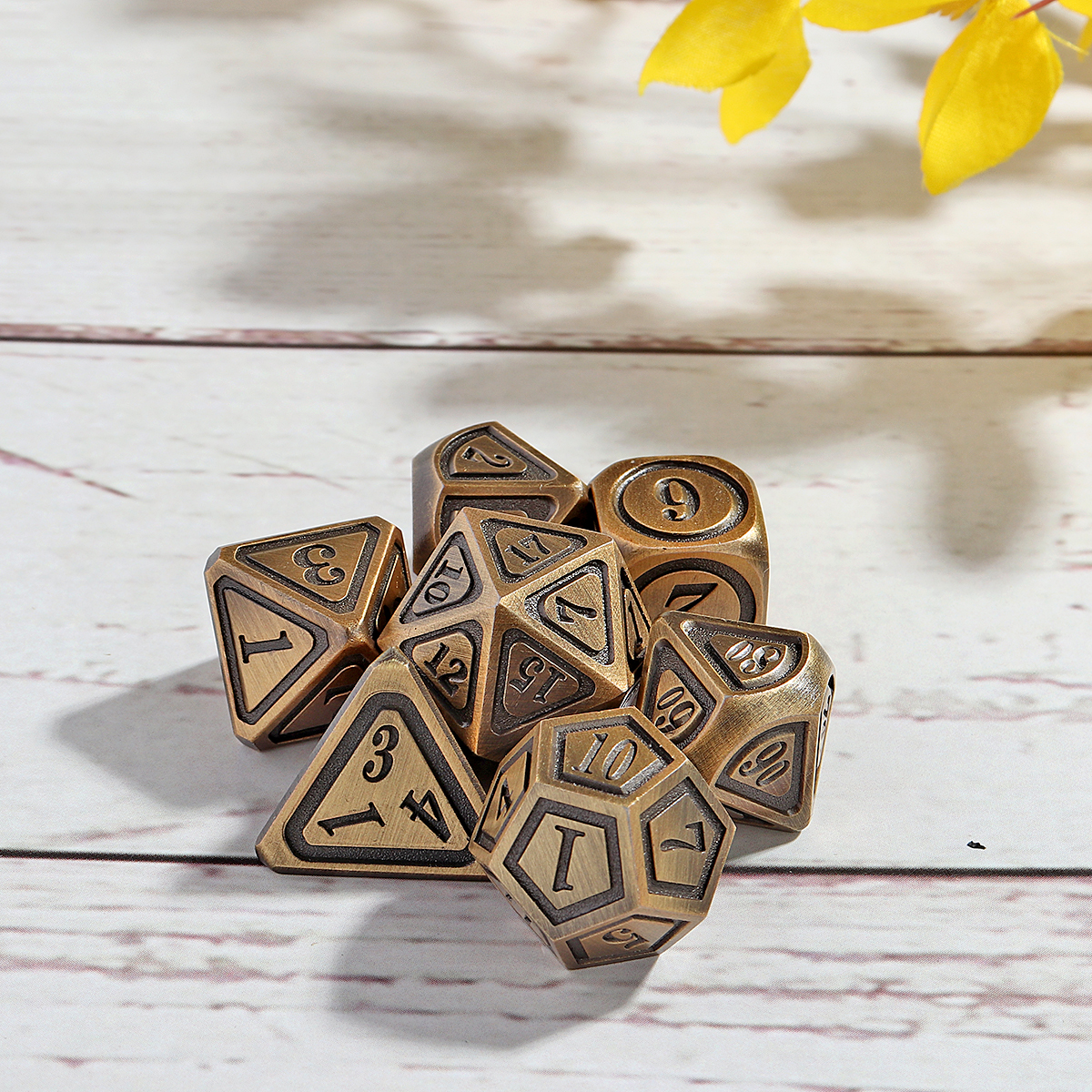 7Pcs DND Polyhedral Dice For Role Playing Game Metal Dice Set