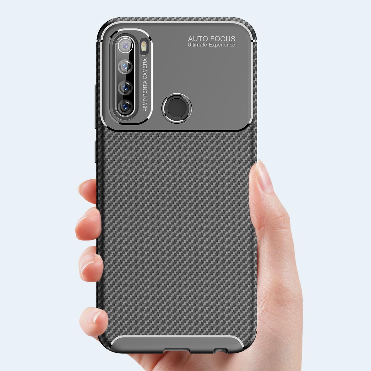 Для Xiaomi Redmi Note 8T Чехол Bakeey Luxury Carbon Fiber Противоударный Силиконовый Защитный Чехол