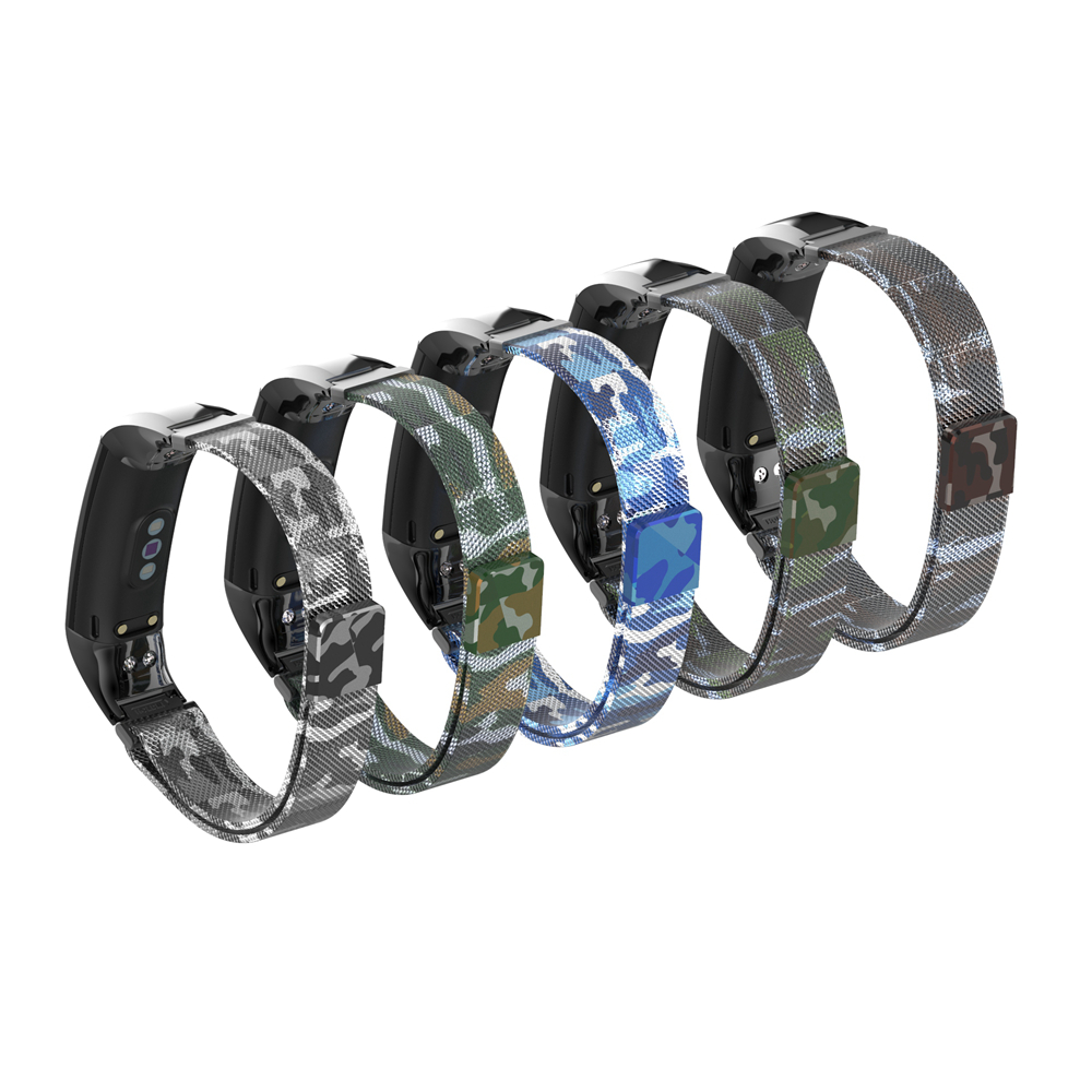 Bakeey Milanese Camouflage Anti-break Design Watch Band Strap for Huawei Honor Band 5&4