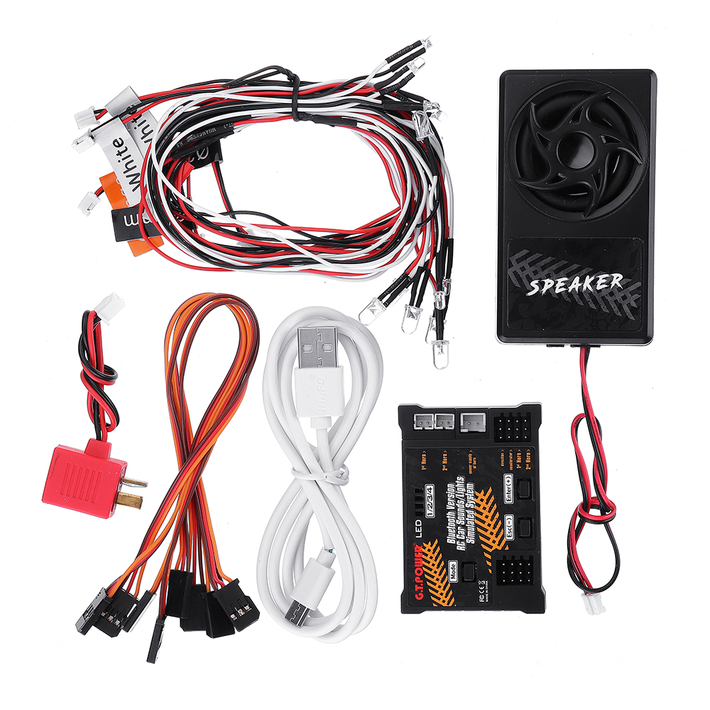 G.T.Power Bluetooth Version RC Car Engine Sound+Lights Simulated System For Axial SCX 10 TRX4 RC Car Parts