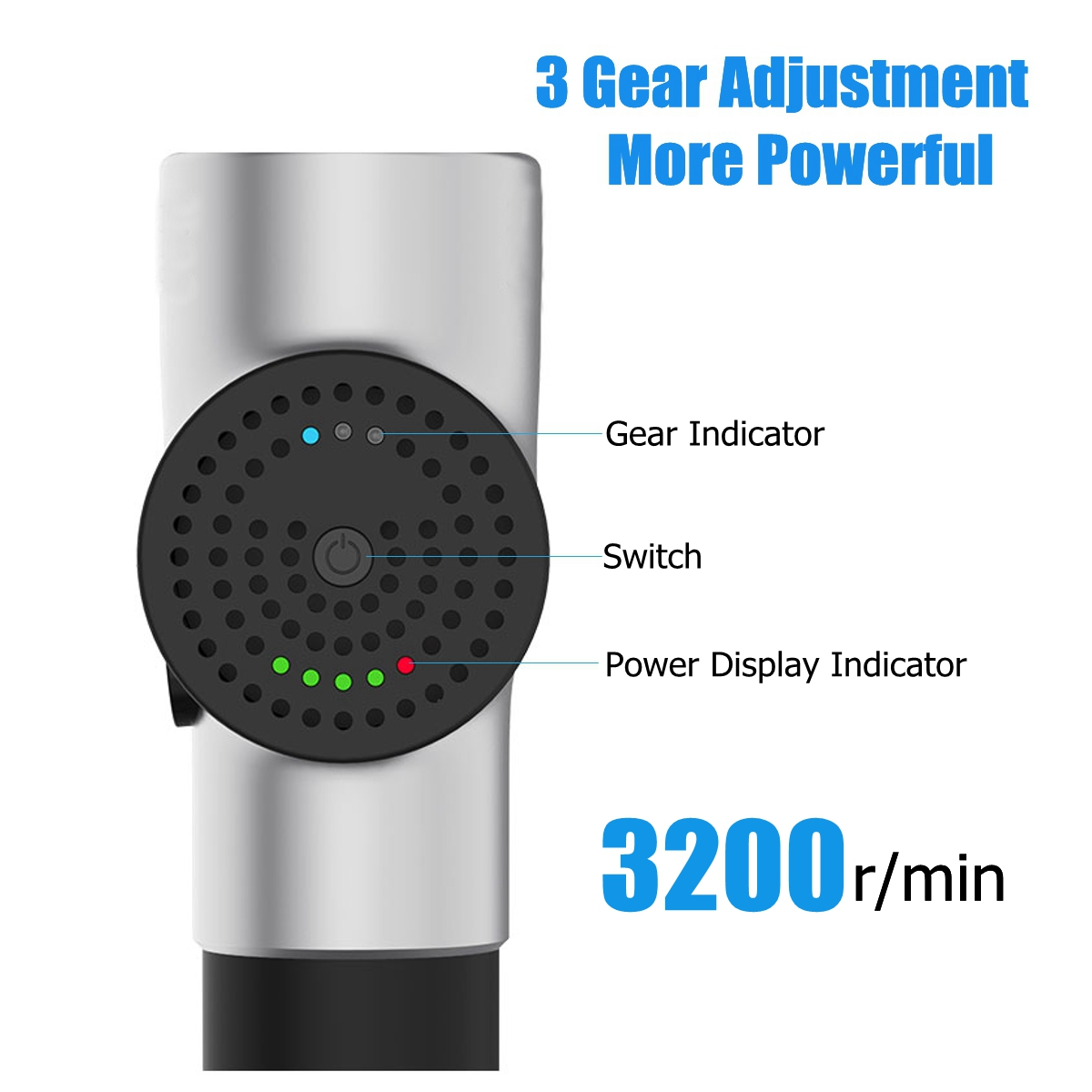 3 Speed Deep Tissue Muscle Massager Relaxation Vibration Electric Massager Cordless Percussion Massage G un Rechargeable Handheld Stimulation With 4 Head