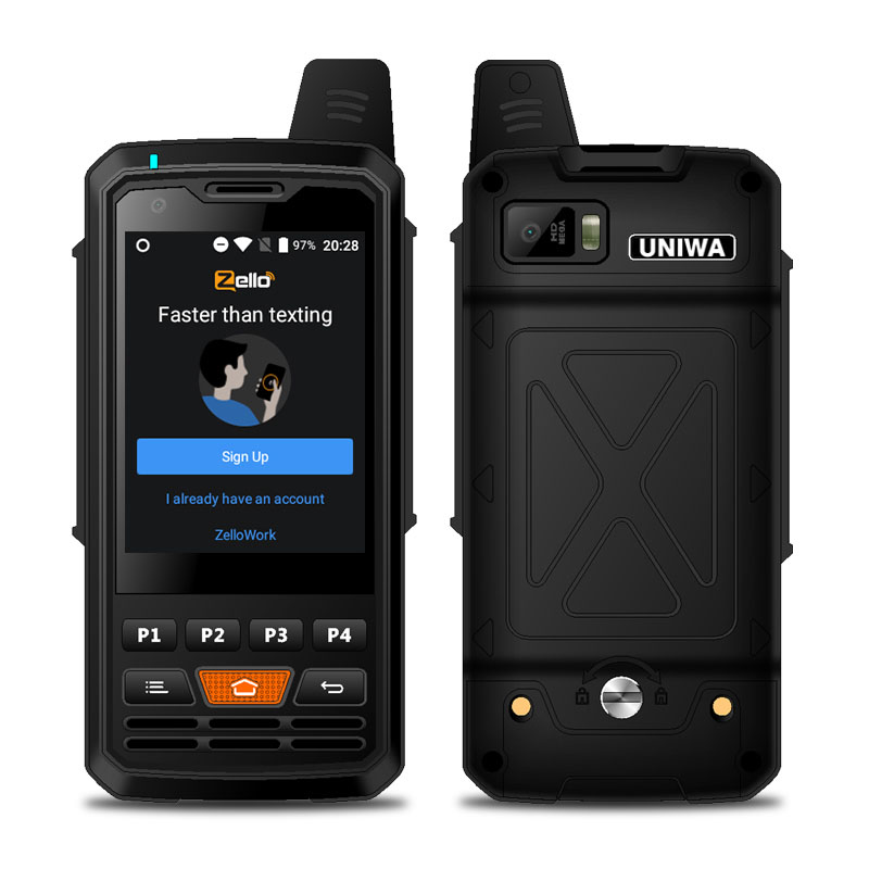 UNIWA Alps F50 4G Nwtwork Global PTT Zello Walkie Talkie 2.8 Inch 4000mAh Android MTK6735 Quad Core 1GB+8GB ROM Signal Booster Feature Phone