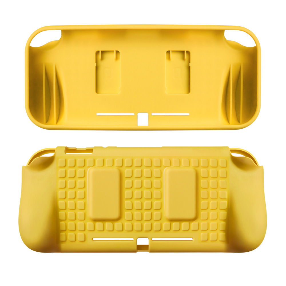 TPU Protective Case Shell Cover with Hand Grip for Nintendo Switch Lite Game Console Game Card Storage Slots