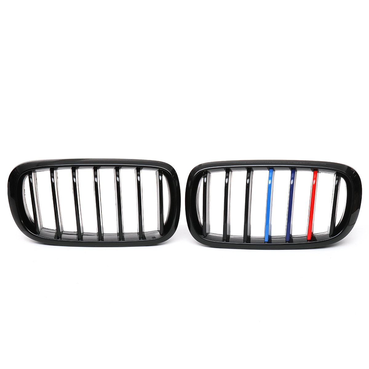 Gloss Black M-Color Front Kidney Grill Grille For BMW F86 F15 F16 X5 X5M 14-17