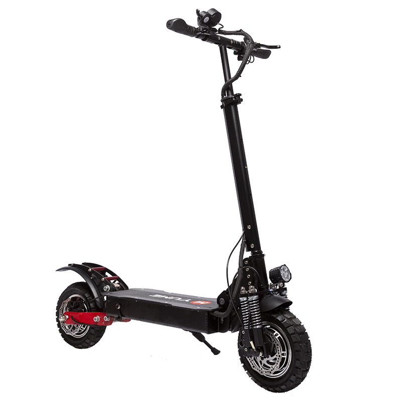 YUME YM-D5 52V 2400W Dual Motor 23.4Ah Folding Electric Scooter 65-70km/h Top Speed 80km Range Mileage 10inch Off-road Pneumatic Tire Max Load 200kg S