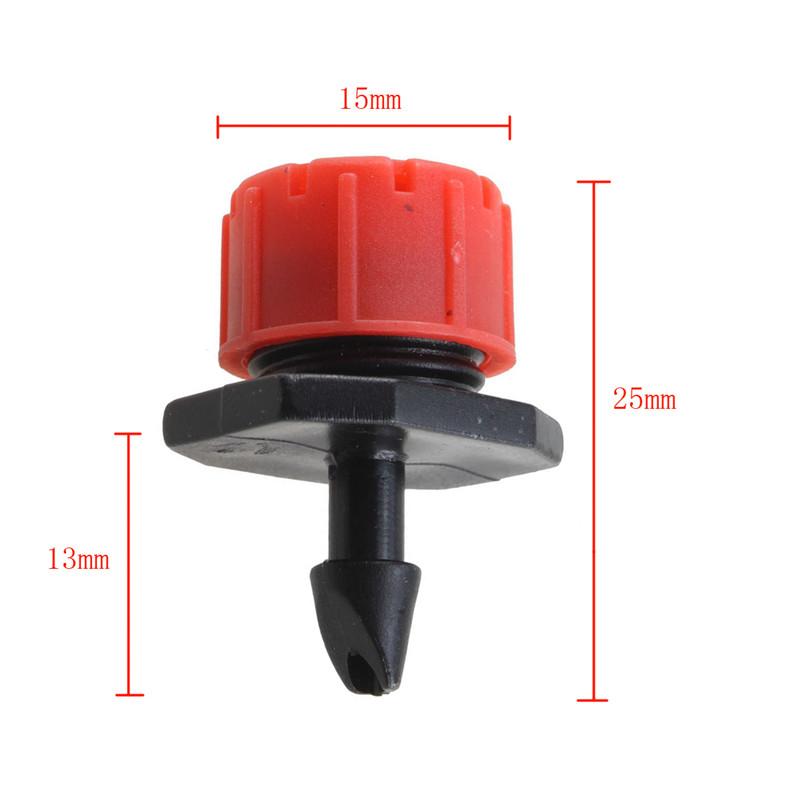 100pcs Adjustable Micro Drip Irrigation Watering Anti-clogging Emitter Dripper