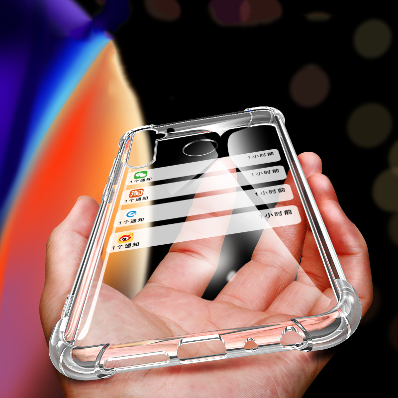 Bakeey Realme 5 Pro Case Air Bag Bumper Shockproof Transparent Soft TPU Protective Case For Realme 5 Pro