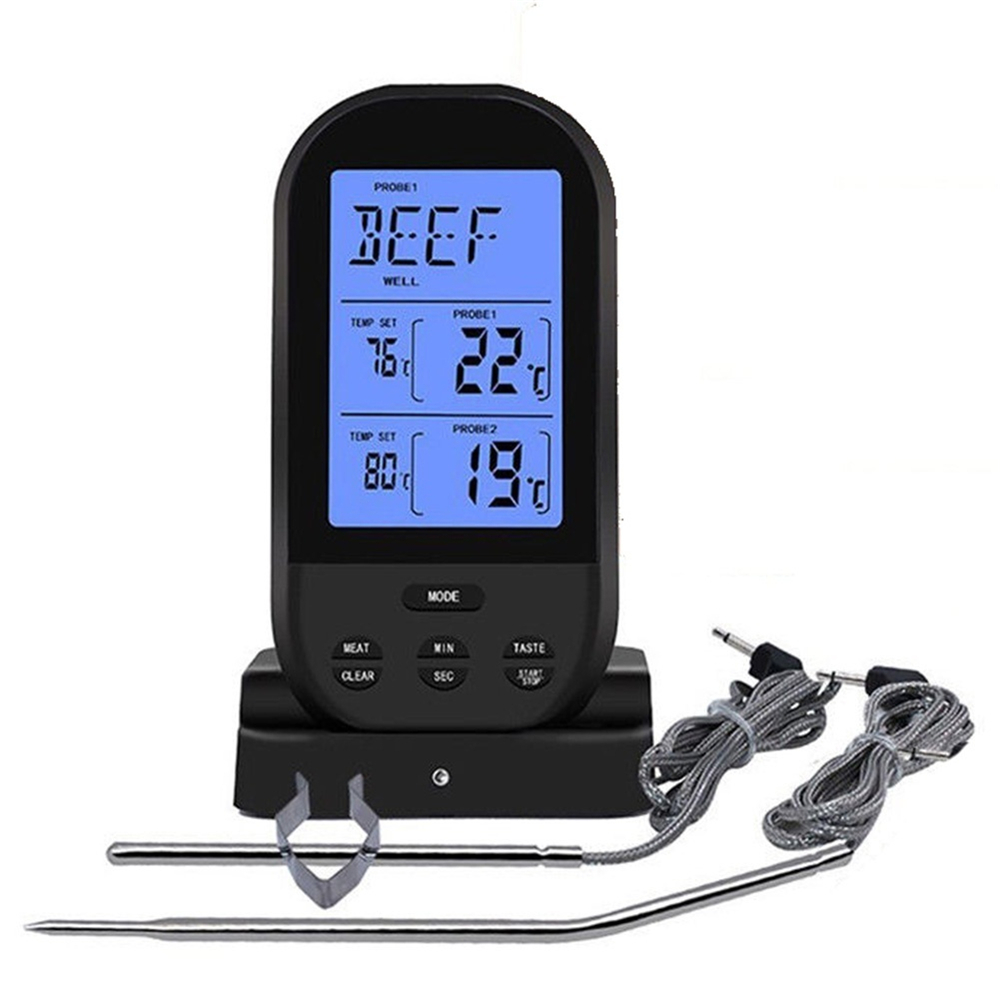 Bakeey Wireless Dual Temperature Needle Barbecue Kitchen Meat LCD Digital Thermometer For Smart Home