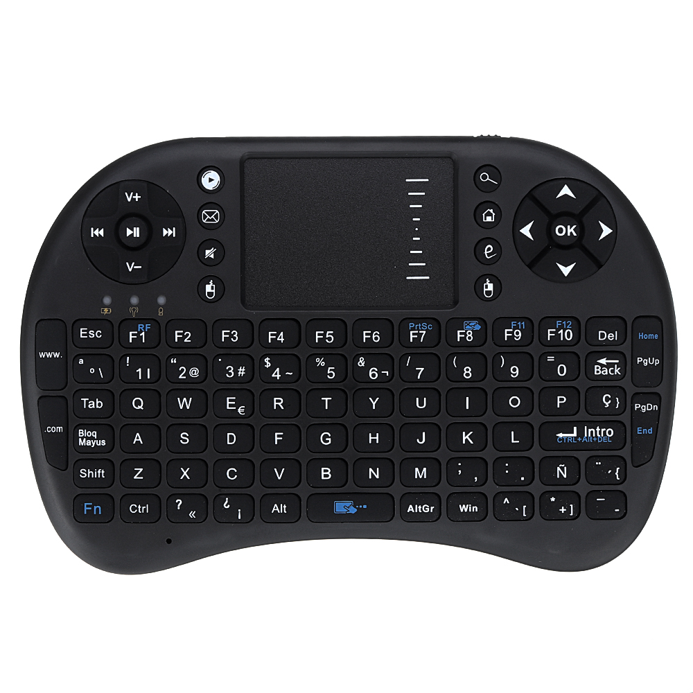 UKB-500-RF 2.4G Wireless Spanish Mini Keyboard Touchpad Airmouse Air Mouse for TV Box Mini PC Computer