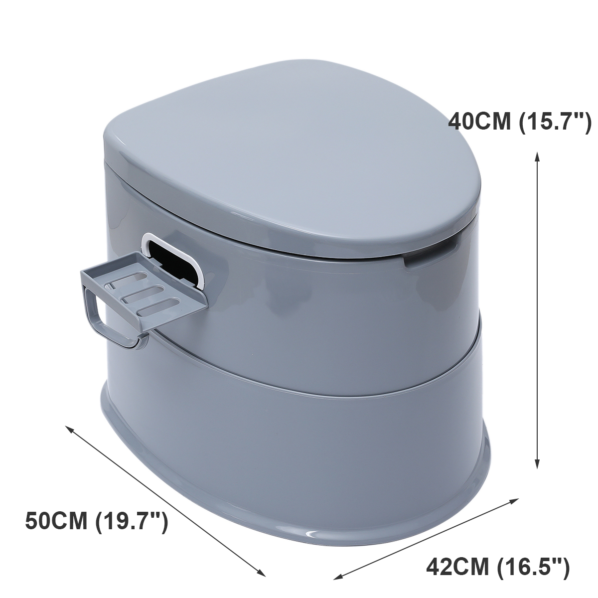 Portable Toilet Bowl Extra Strong Durable Support Adult Senior 7