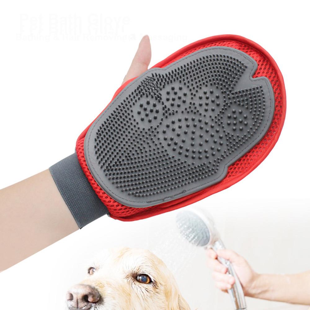 Силиконовые перчатки для ванн для животных Волшебный Кот Собака Перчатки для удаления Волосы Массаж Очистка Волосы Расческа Щетка Инстру