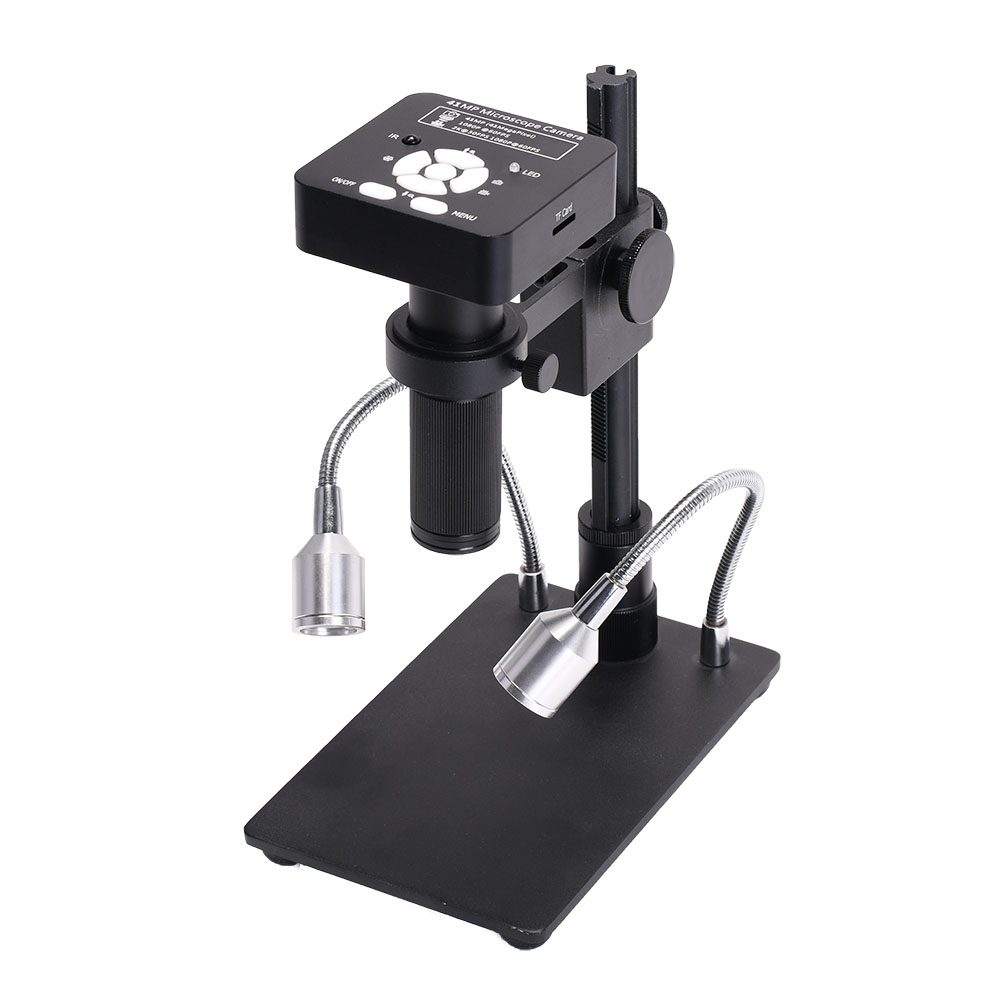 HAYEAR 41MP 2K 1080P 60FPS HD USB2.0 Industrial Electronic Digital Video Soldering Microscope Camera Magnifier with Stand for Phone PCBTHT Reparing