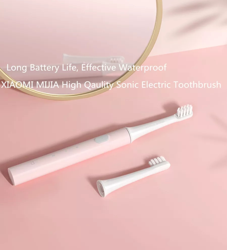 Original Xiaomi Mijia T100 Pink/Blue Color Mi Smart Electric Toothbrush 2 Speed Sonic Toothbrush Whitening Oral Care