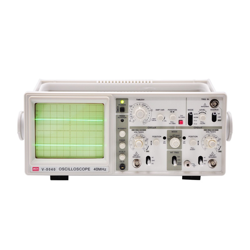 "V-5040 Handheld Oscilloscope 40Mhz Analog Oscilloscope with 6"" CRT 2 Channels 2 Tracing Dual Channel Analogue Oscilloscope"