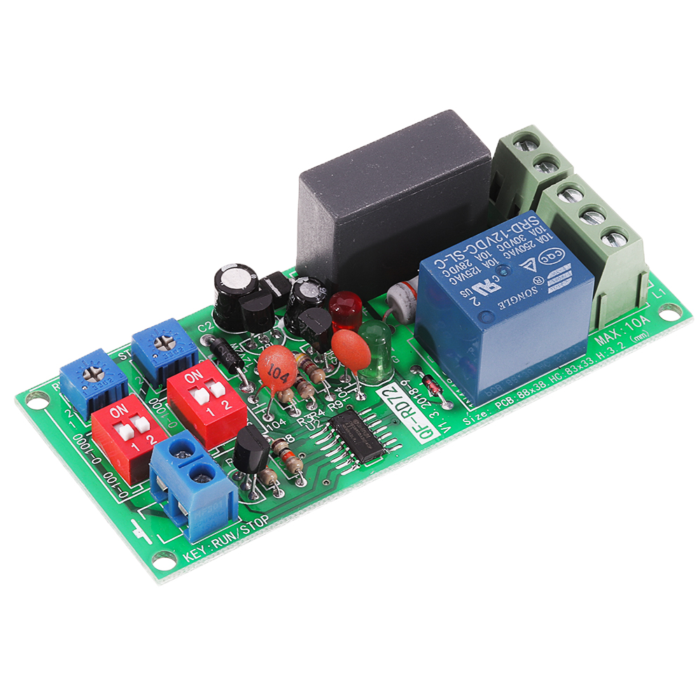 AC 100-220V Cycle Adjustable Delay Timing Timer Relay Switchs Module Turn ON//OFF