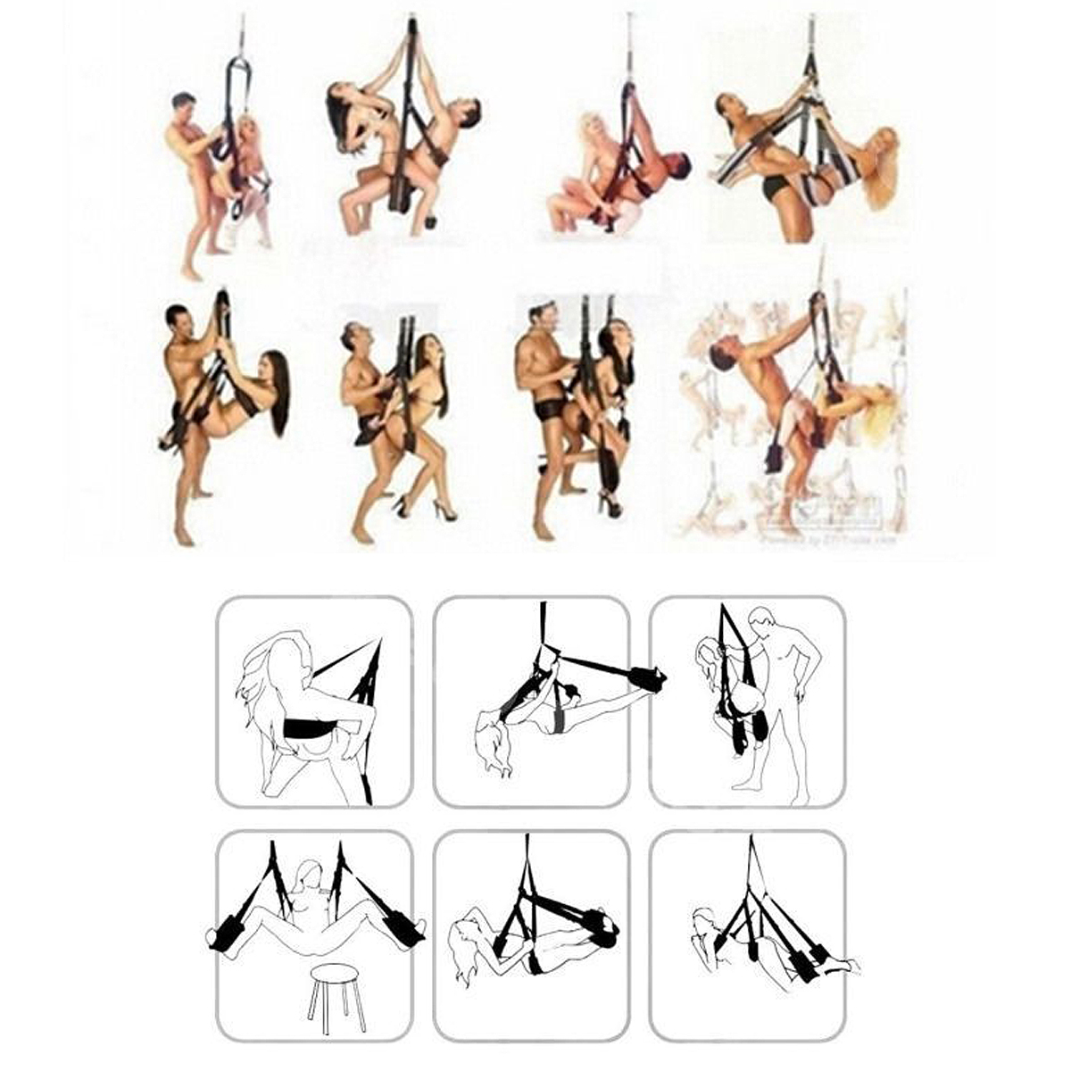 The 360 Spinning Sex Swing Love Chair Hanging Position Enhancer Furniture Yoga Hammock Chair 2