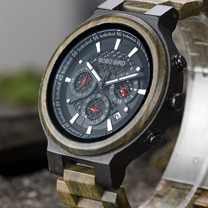 BOBO BIRD S22 Date Display Creative Men Wrist Watch