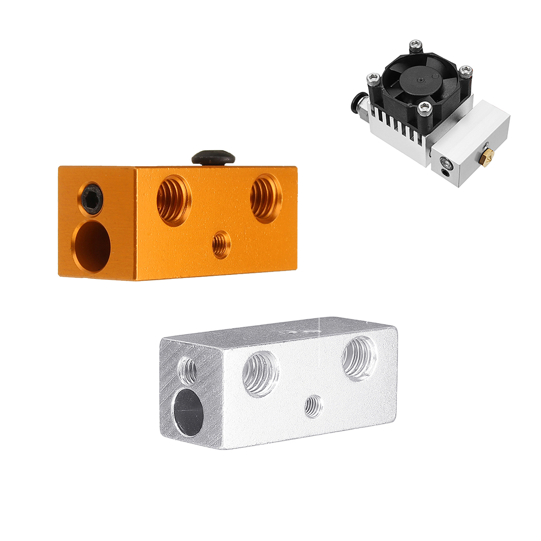 Double-Color Mixed Heating Block for V6 J-Head Extrusion 3D Printer Part