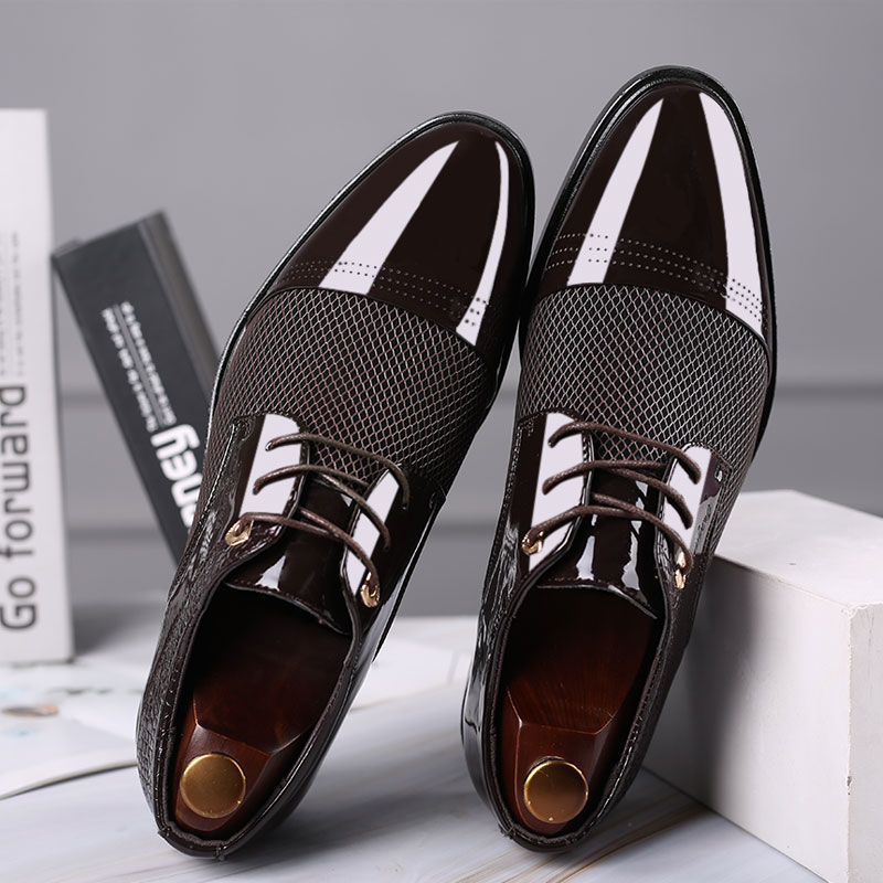 Men Stylish Hollow Out Cap Toe Formal Shoes