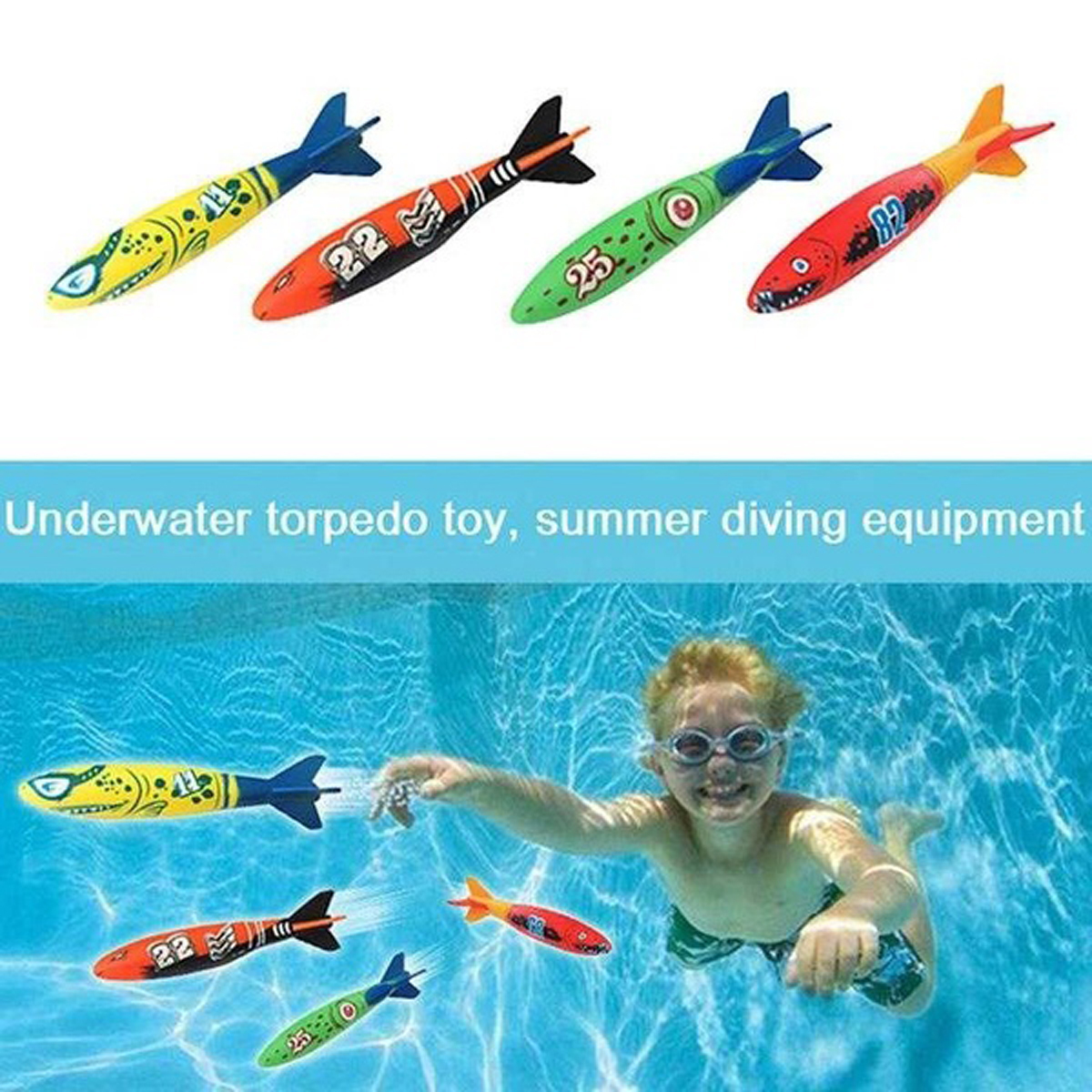 19PCS Swimming Pool Underwater Diving Toys Water Play Toys for Kids 14