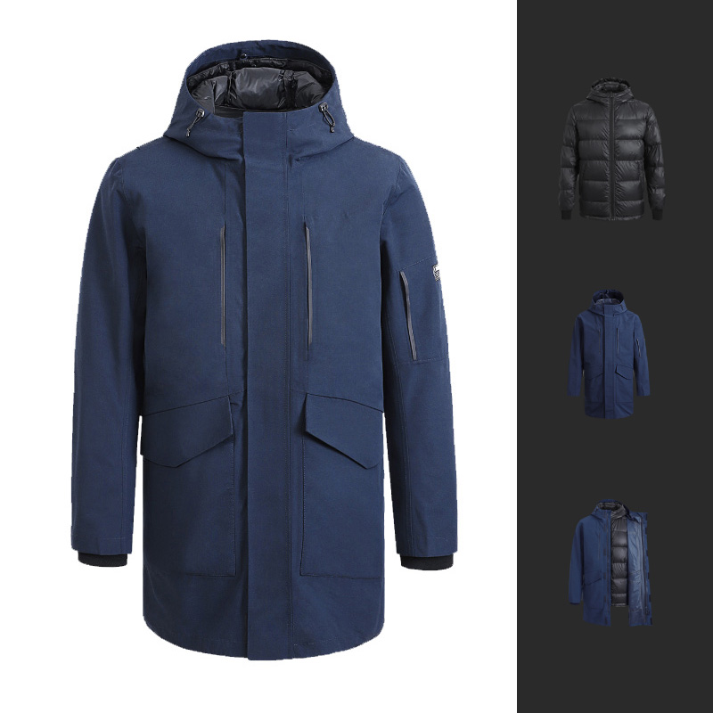 Cotton Smith 3 In 1 Mid-length Men Down Jacket From Xiaomi Youpin