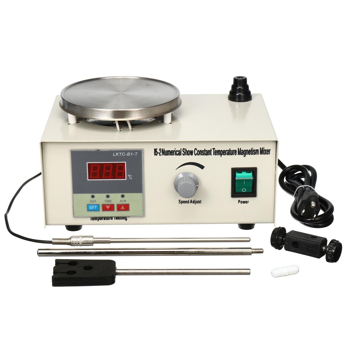 300 Вт 220 В Лабораторная Лаборатория Магнитная Мешалка Отопление Пластина Нагреватель Смеситель Оборудование