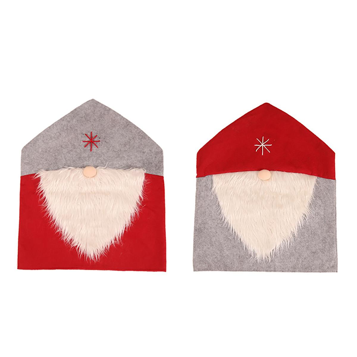 С Новым Годом С Рождеством Христовым Санта Клаус Кепка Стул Чехлы Красные Шапка Задние Чехлы на стулья Рождественские Украшения для Дома