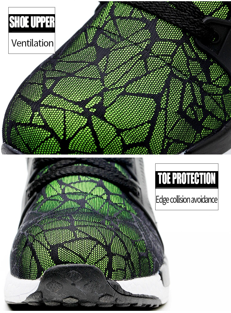 TENGOO Ultralight Safety Shoes Hiking Steel Toe Work Safety Mesh Anti-slip Anti-Collision Climbing Running Ball Shoes