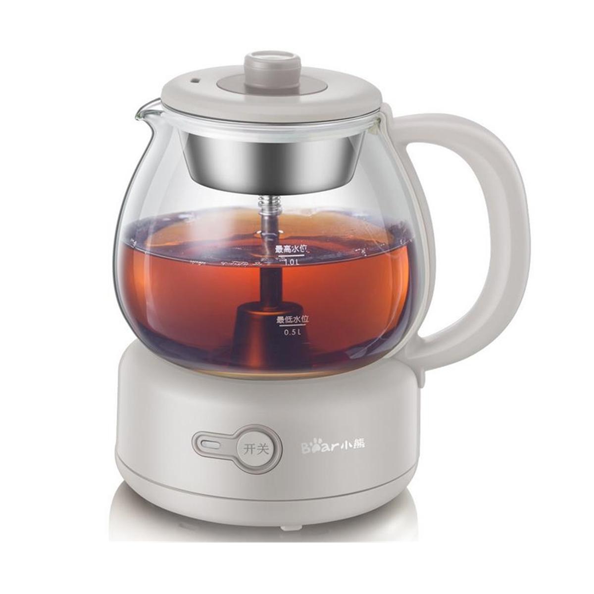 Bear ZCQ-A10Q1 Мини Электрическая кастрюля Автоматическое стекло Черное Чай Горшок