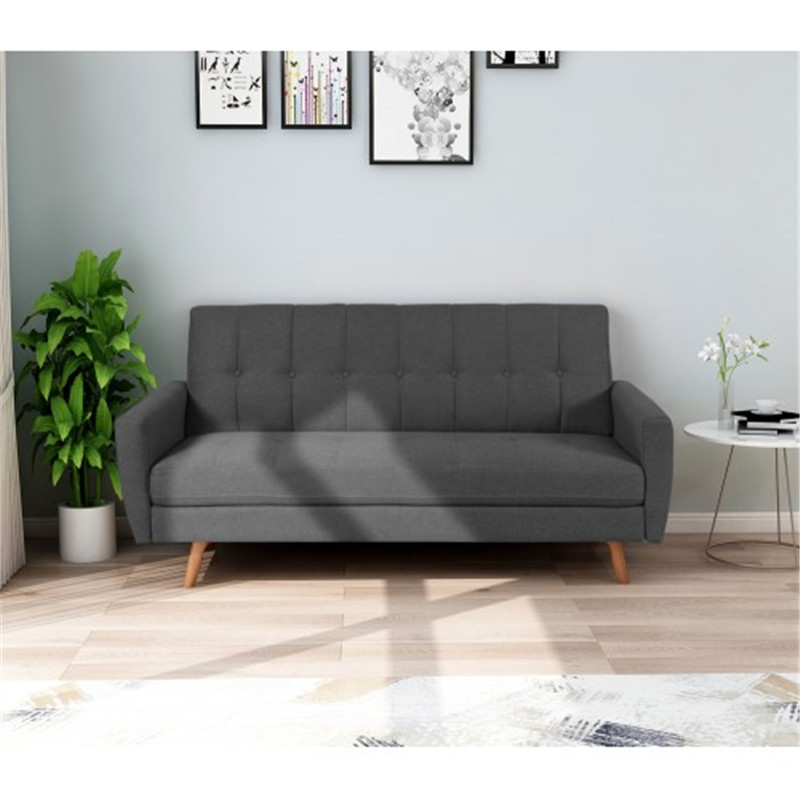 Pleasing Living Room 3 Seat Sofa Upholstered Living Room Fabric Sofa Small Space Sofa Gray Alphanode Cool Chair Designs And Ideas Alphanodeonline