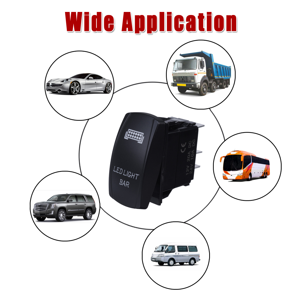 Autos 40a Roof Led Light Bar Wiring Harness Relay 5 Manual Guide