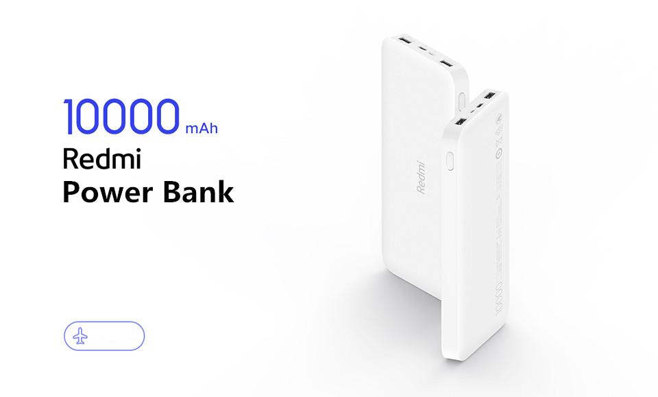 Xiaomi Redmi 10000mAh Dual Output & Input Power Bank Standard Version for iPhone Mi Redmi