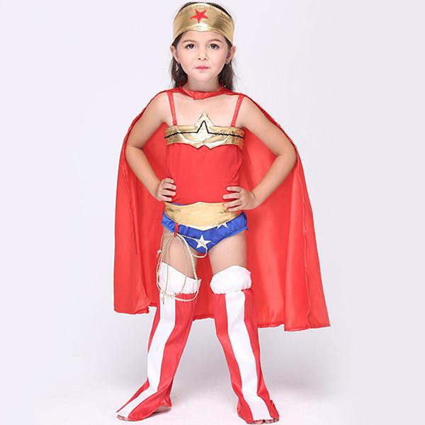 Halloween Kid Mädchen Anime Super Held Fancy Cosplay Kostüm