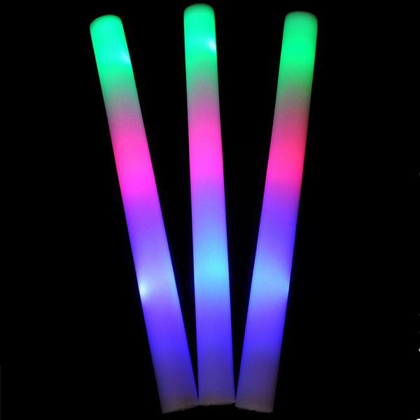 1pc LED Colorful Cheering Glow Flashing Foam Палка для вечеринок для вечеринок для вечеринок