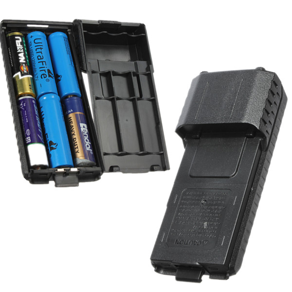 Battery Case 6xAA Battery for Baofeng UV-5R Plus UV-5RE Two-way Radio