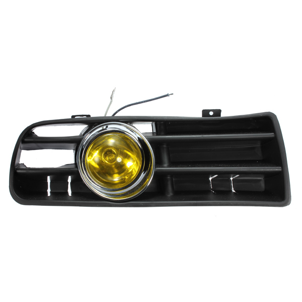 Yellow Front Fog LED Light Lamp Lower Grille for 98-04 VW Golf MK4
