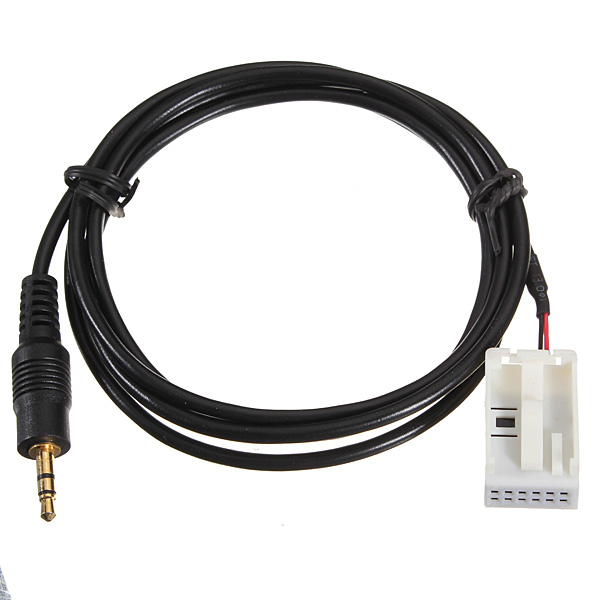 3 5mm Jack Plug CD 6000 AUX Audio Input Adapter Cable for Ford