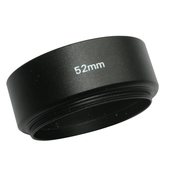EMOLUX 52мм металлическая бленда для Canon / Nikon 50mm f1.8 черный