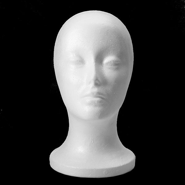 Женская пенополистирол пенопласт голова манекена модель парик волосы очки шляпа стенд дисплей