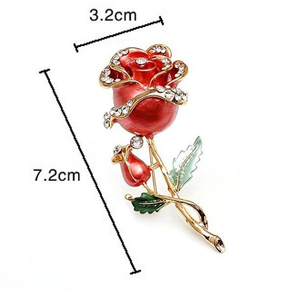 Rose Flower Bridal Brooch