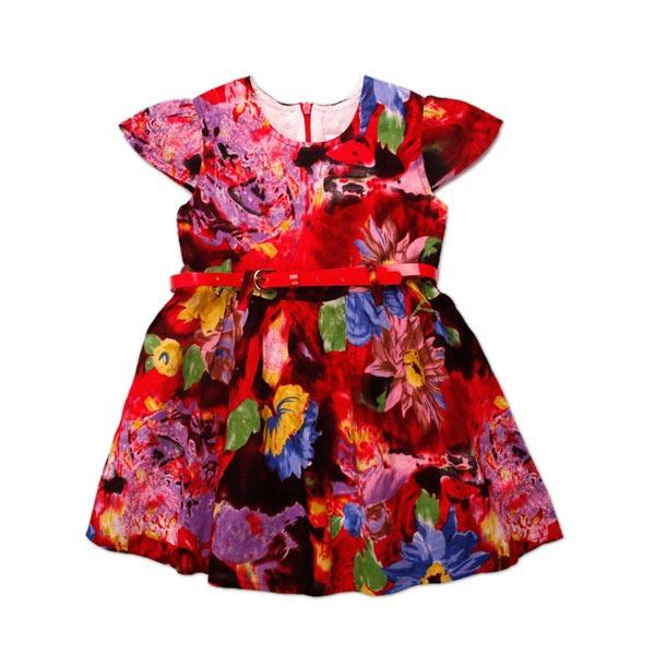 18m-6Y девушки красочный летний цветок платье младенца юбки дети