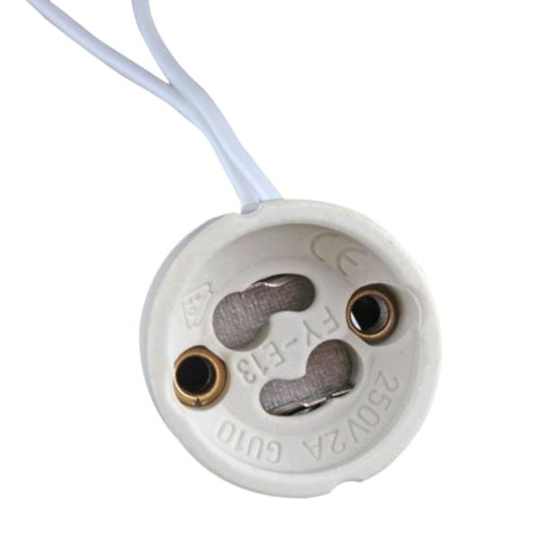 Цоколем GU10 LED Лампа галогеновая Лампа держатель базы керамический разъем провода