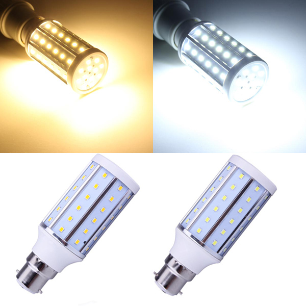 B22 10W Warm White/White 60 SMD 2835 220-240V LED Corn Light Bulb