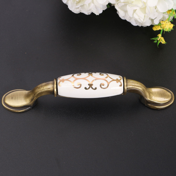 Green Ancient Antique Handle Zinc Alloy Handle Gula Hand Door Knob