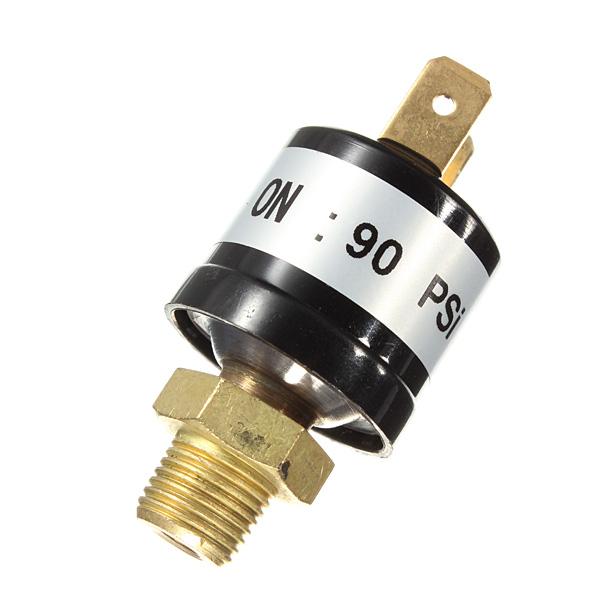 90 - 120 PSI (от воздушного компрессора контроль давления переключает клапан сверхмощный