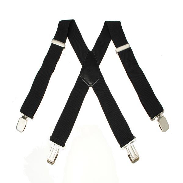 Мужская Terylene 4 ролика высокой стрейч эластичные черные белые подтяжки