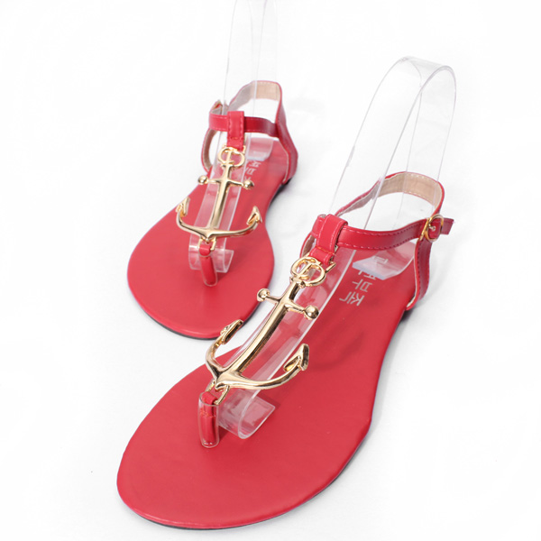 Metal T Strap Buckle Sandals